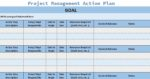 Project management action plan template