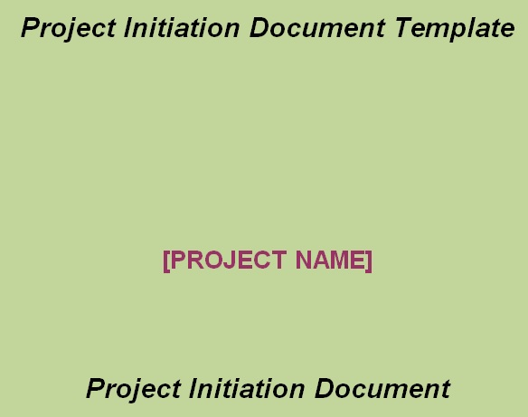 Project Initiation Plan Template