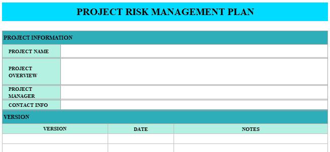 Project-Risk-Management-Plan