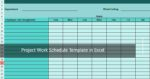 Project Work Schedule Template in Excel