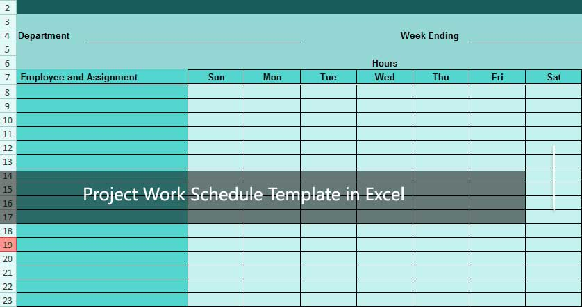 How To Use Project Work Schedule Template In Excel Excelonist