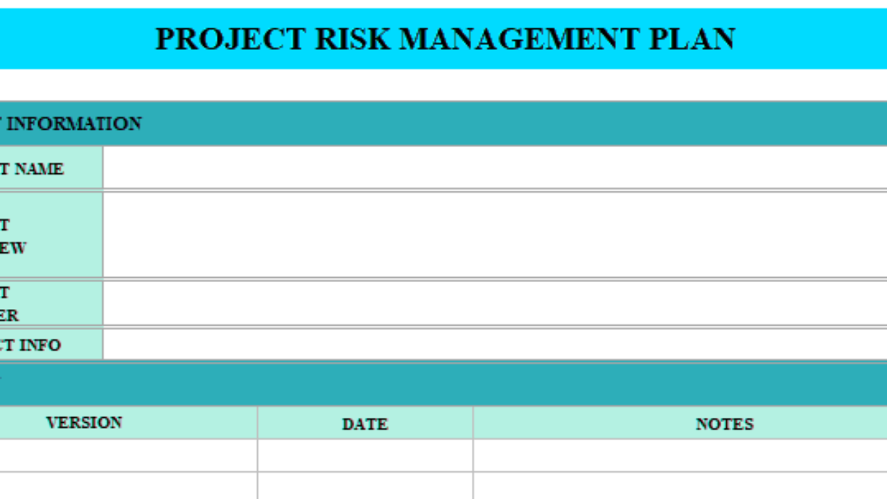 Project Management Plan Example from www.excelonist.com