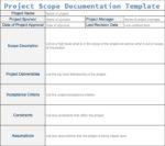 Project Scope Documentation Template