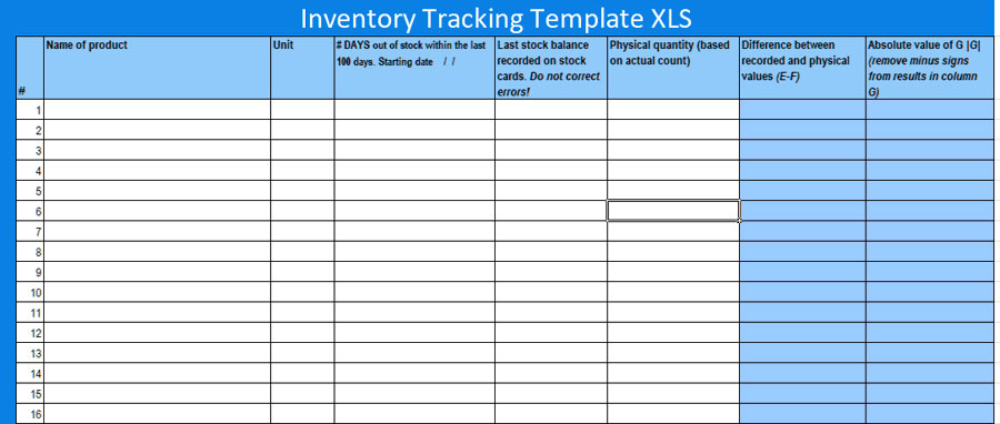 Free Inventory Tracking Excel Template Excelonist